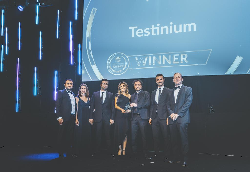 "Testinium won the ""Testing Management Team of the Year"" award at European Software Testing Awards 2019!"